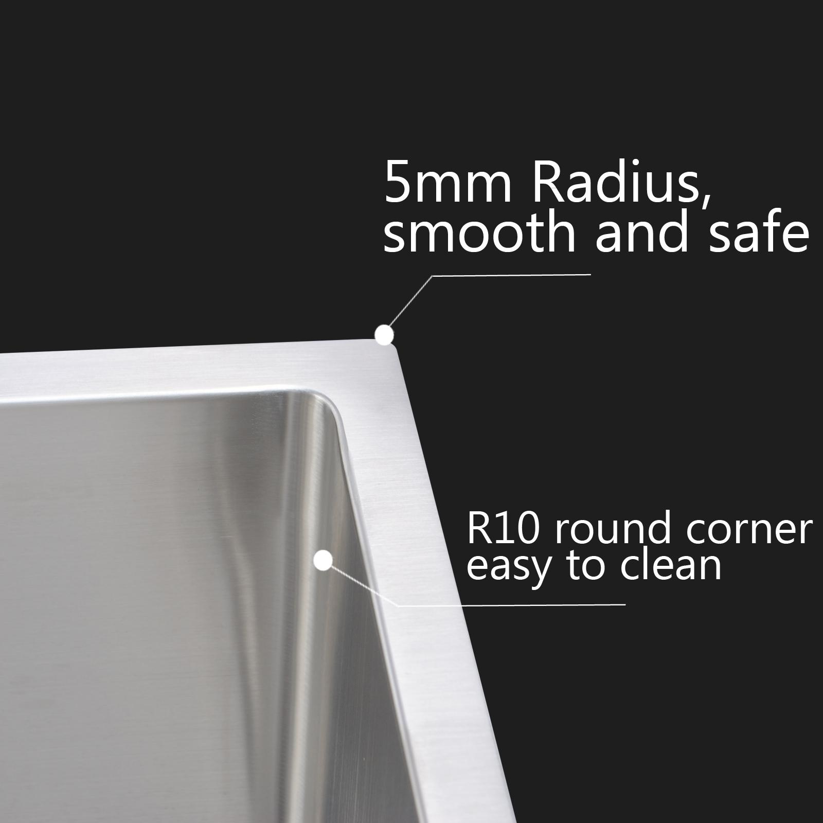 440x440mm 304 Stainless Steel Top Undermount Kitchen