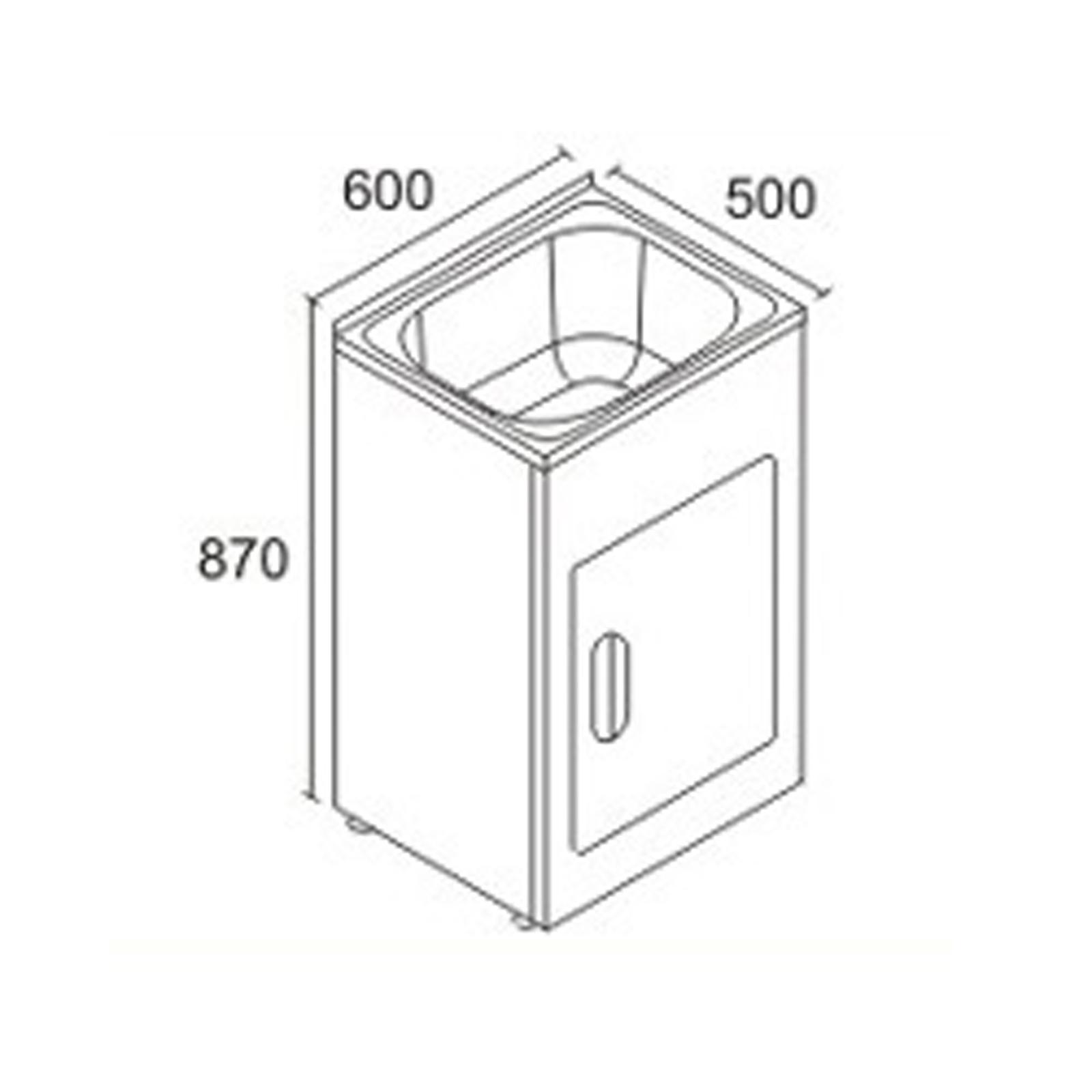 White 45 Liter Single Bowl 304 Stainless Steel Sink