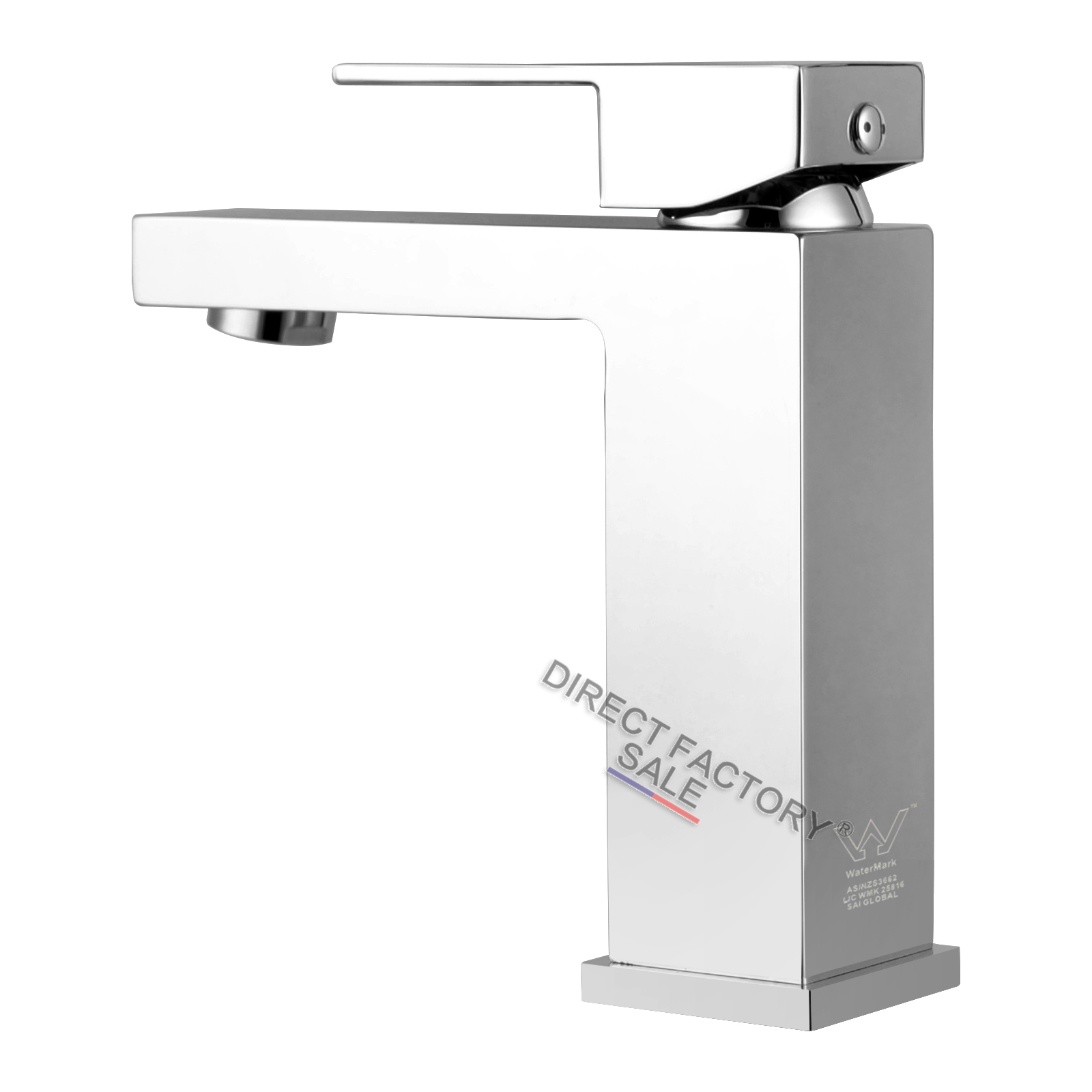 details about square basin flick mixer tap spout vanity brass chrome