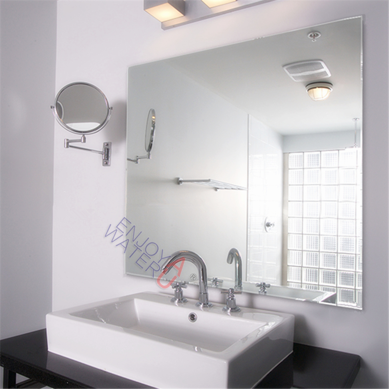 900x900mm Wall Mirror Bathroom Square Large Gloss Pencil Edge Commercial Vanity