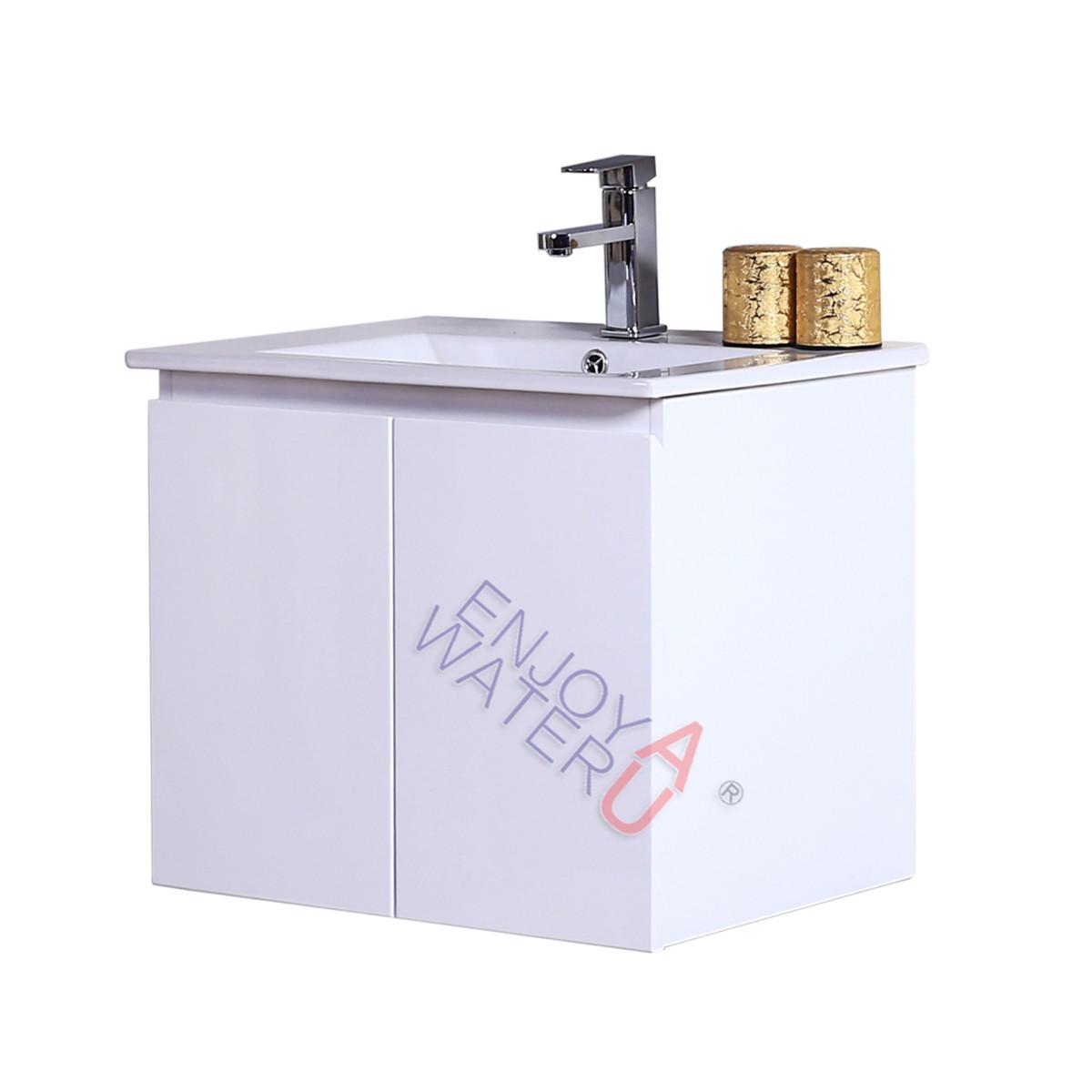 610mm Wall Hung Bathroom Vanity Cabinet Ceramic Basin